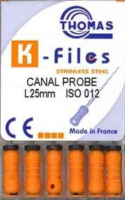 CANAL PROBE 25MM PKT 6 SIZE 12