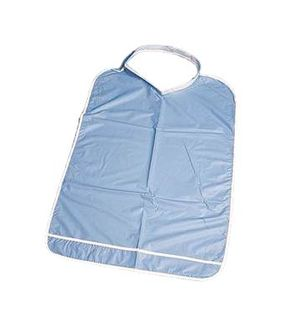 BIB PLASTIC PATIENTS BLUE