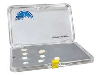 CERAMIC HUMIDOR SET TRANSPARENT