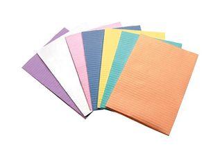 BIB PAPER PLASTIC BACK 45X32CM BLUE/500