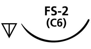 SUTURE SILK 4/0 FS2 NEEDLE /12