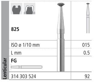 INTENSIV DIAMOND BUR 92 STD (825-015) FG/6