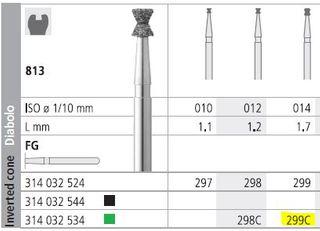 INTENSIV DIAMOND BUR 299 CRSE FG/6