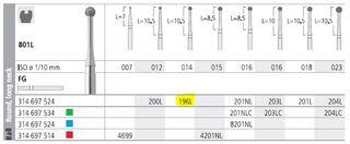 INTENSIV DIAMOND BUR 196L (801L-014) FG/6