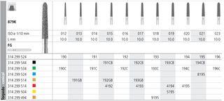 INTENSIV DIAMOND BUR 192 CRSE (879K-016) FG/6