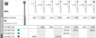 INTENSIV DIAMOND BUR 200L STD (801L-012) FG/6