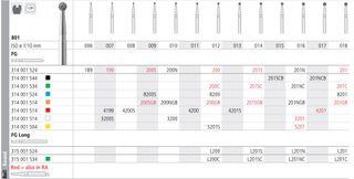 INTENSIV DIAMOND BUR 201 STD (801-018) FG/6