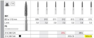 INTENSIV DIAMOND BUR 285LCB XCOARSE (861-015) FG/6