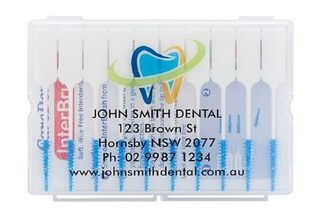 PERSONALISED INTERBRUSH SMALL BLUE/EACH