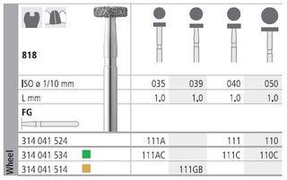 INTENSIV DIAMOND BUR 111AC COARSE (818-035) FG/6