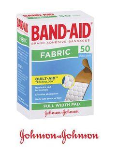 BAND AID BANDAGES FABRIC PKT 50