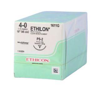 ETHILON SUTURE 4/0 19MM 3/8 RC/12
