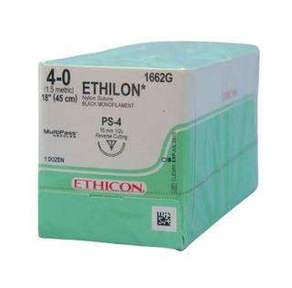 ETHILON SUTURE 4/0 16MM1/2 PPOINT RC/12