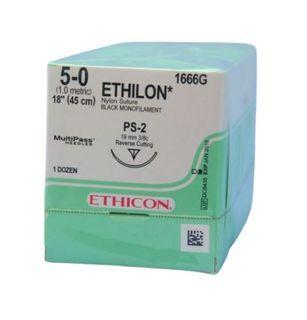 ETHILON SUTURE 5/0 19MM 3/8 RC/12