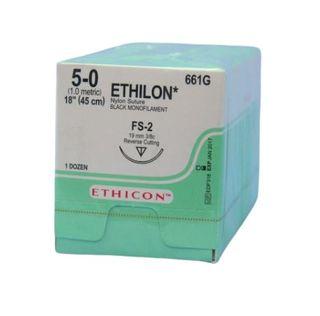 ETHILON SUTURE 5/0 19MM RC/12