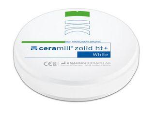 CERAMILL ZOLID HT+ WHITE 98X18MM ROUND