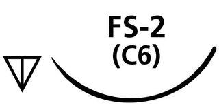 SUTURE PGA 5/0 C6 FS2 NEEDLE /12