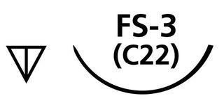SUTURE PGA 5/0 C6 FS3 NEEDLE /12