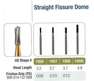 1958L-5 FG JET CARBIDE ST FISS DOME /5