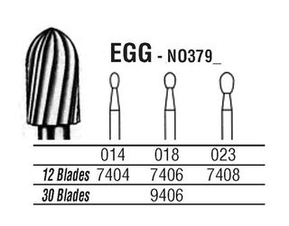 379-023 7408 CARBIDE FG NORTHBEL BURS /5