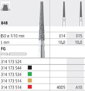 INTENSIV DIAMOND BUR A10 FINE (848-015) FG/6