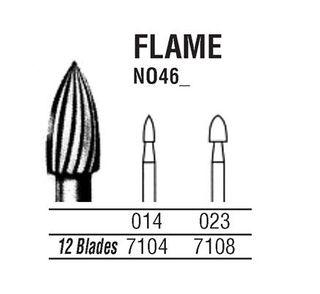 46-018 7106 CARBIDE FG NORTHBEL BURS /5