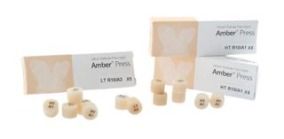 AMBER PRESS SHADE A2 HT R10 INGOT/5