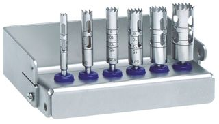 SET OF 6 TREPHINES WITH BUR BLOCK