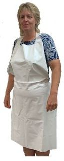 APRON WHITE IMPERVIOUS PKT 2