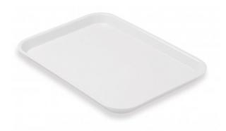 PLASTIC TRAY FLAT WHITE