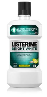 LISTERINE BRIGHT WHITE 500ML