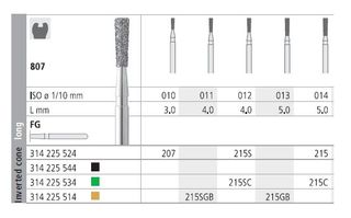 INTENSIV DIAMOND BUR 215C (807-014) FG/6