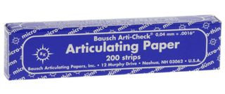 ARTICULATING PAPER STRIPS BLUE 40UM/200