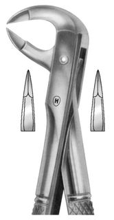EXTRACTION FORCEPS FOR LOWER MOLARS 91