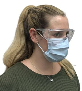 SAFETY GLASSES CLEAR WITH SIDE SHIELDS