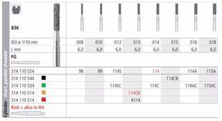 INTENSIV DIAMOND BUR 114A STD (836-016) FG/6