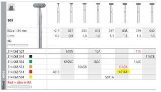 INTENSIV DIAMOND BUR 4011A FINE (909-038) FG/6