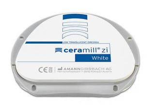 CERAMILL ZI (ZIRCONIA) WHITE 16MM 71