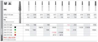 INTENSIV DIAMOND BUR 109C CRSE (846-016) FG/6