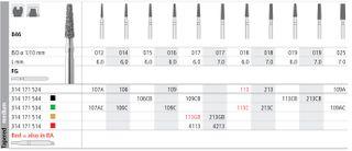 INTENSIV DIAMOND BUR 107A STD (846-012) FG/6
