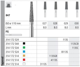INTENSIV DIAMOND BUR 113S STD (847-029) FG/6