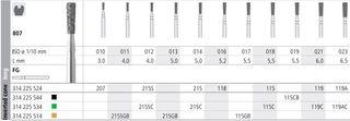 INTENSIV DIAMOND BUR 115 COARSE FG/6