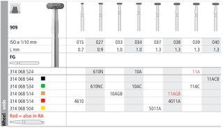 INTENSIV DIAMOND BUR 11A STD (909-039) FG/6