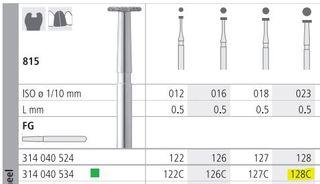 INTENSIV DIAMOND BUR 128 CRSE (815-023) FG/6