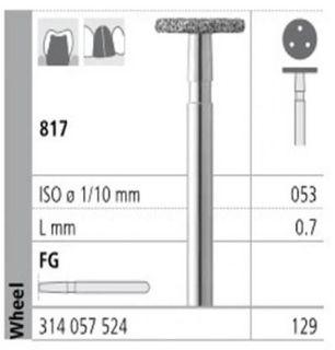 INTENSIV DIAMOND BUR 129 STD (817-053) FG/6
