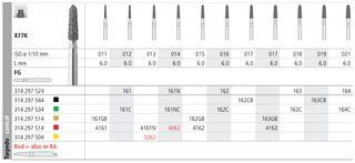 INTENSIV DIAMOND BUR 162 STD (877K-016) FG/6