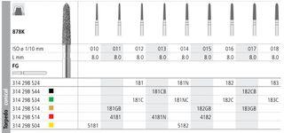 INTENSIV DIAMOND BUR 181 STD (878K-012) FG/6