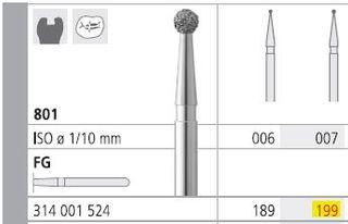 INTENSIV DIAMOND BUR 199 RA/ 6 (801)