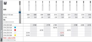 INTENSIV DIAMOND BUR 219B (830-012) FG/6