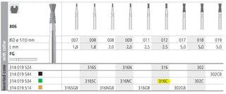 INTENSIV DIAMOND BUR 316 CRSE FG/6
